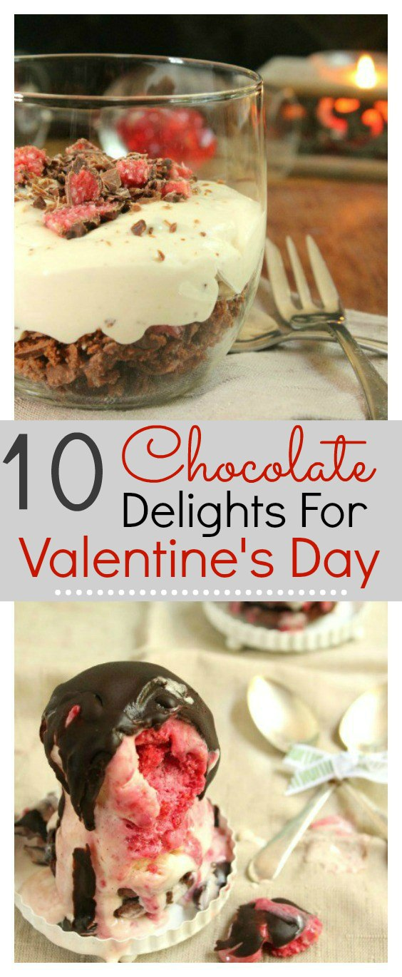 10 easy homemade chocolate delight recipes that are perfect for Valentine's day. Food is the way to man's heart and these recipes will totally hit the spot. These delicious desserts will met his heart