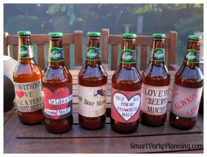 Grungy Valentines beer labels