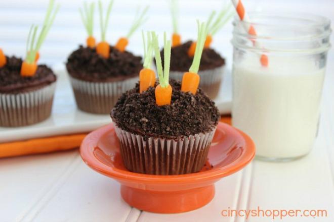 Carrot Garden Cupcakes