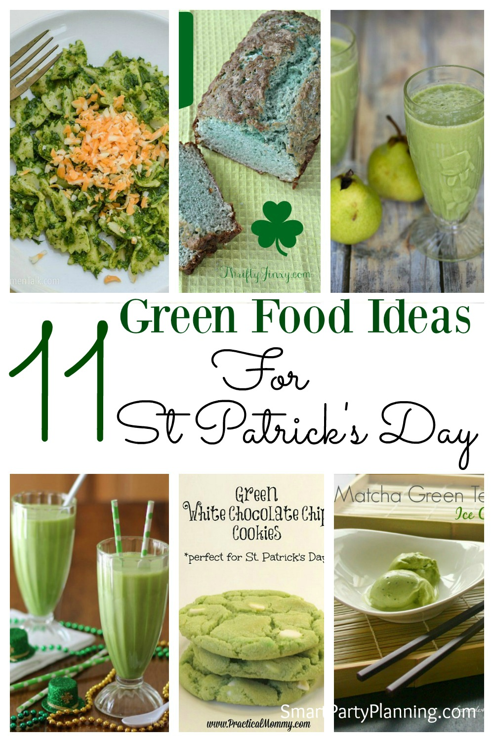 Looking for some green food for St Patrick's Day?  There is a selection of dinner recipes, desserts and drinks that will all help those green food ideas to flow!