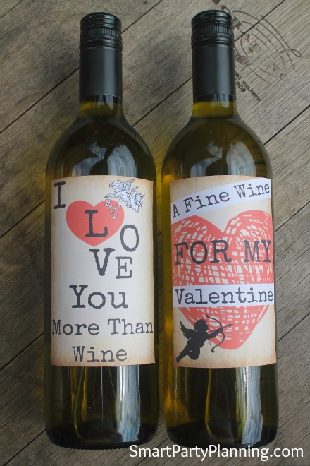 Printable Valentines Day Wine labels