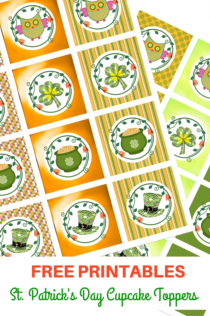 st patrick u0027s day cupcake toppers free printables