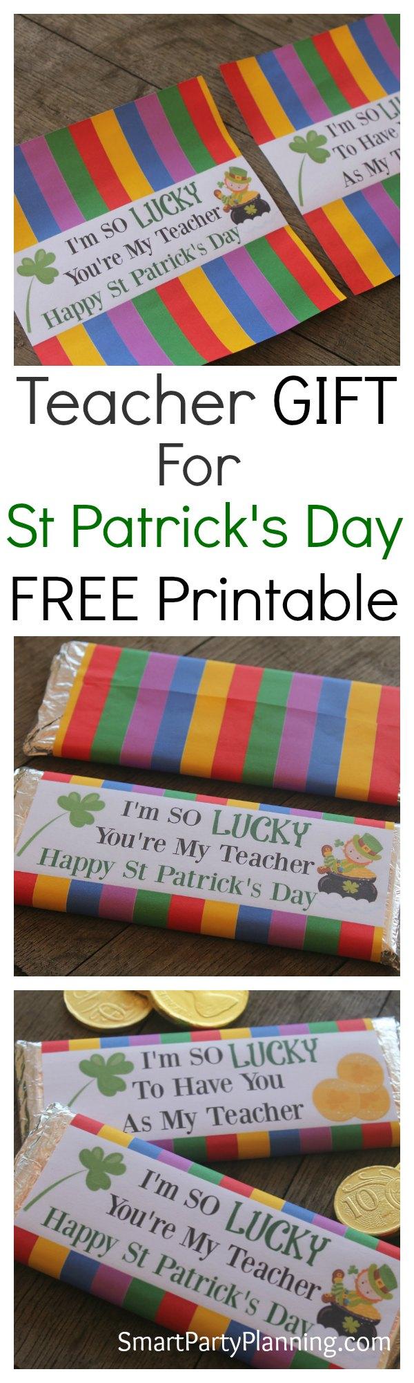 Teacher Appreciation Gift For St Patricks Day