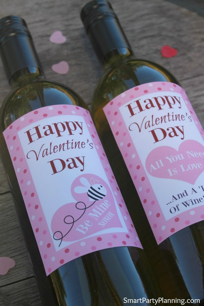 Valentines Day Wine Bottle Labels