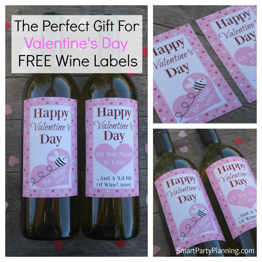 the perfect gift for valentines day free wine labels