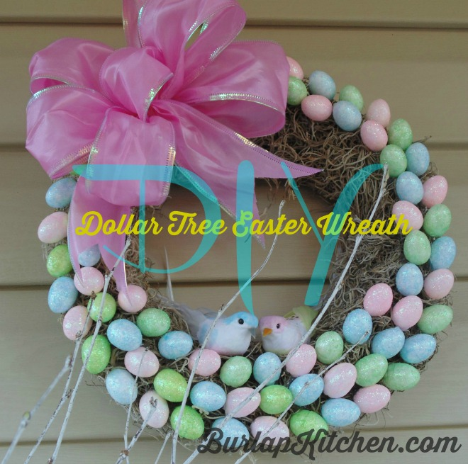 Dollar Tree Easter wreath