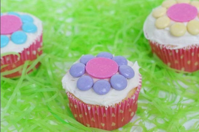 3 easy flower cupcakes for kids