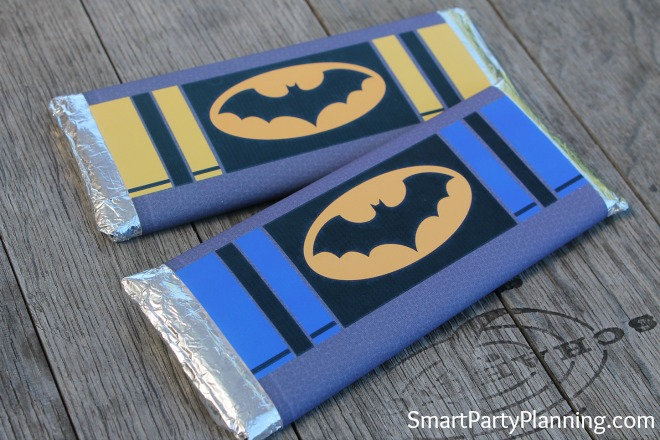 Batman hershey bar wrappers