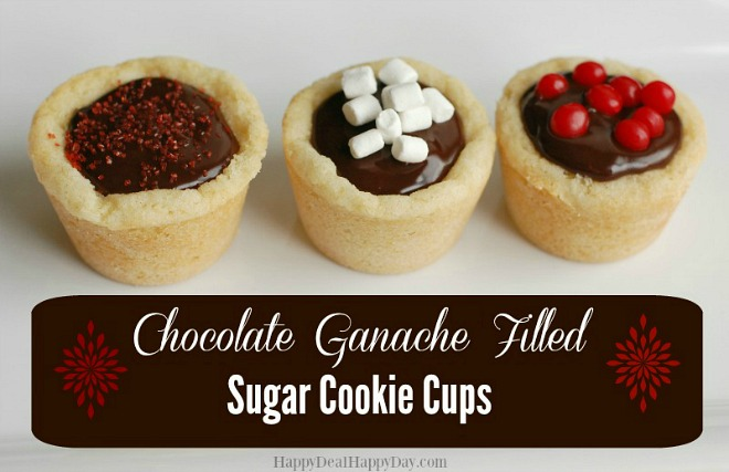 Chocolate ganache cups
