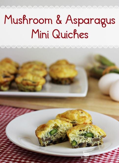 Mushroom & Asparagus Mini Quiches