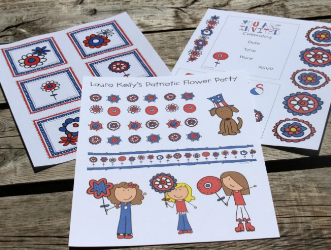 Set of printable patriotic decorations