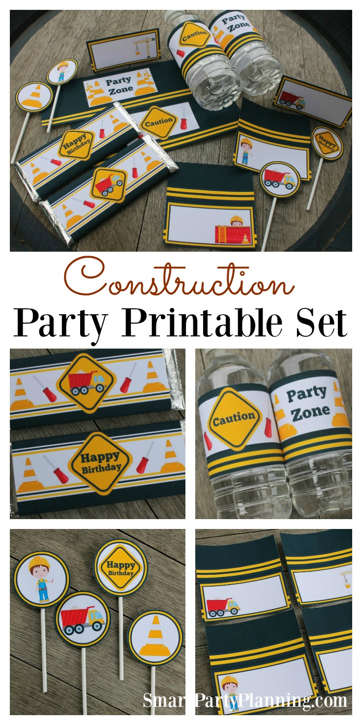 Construction Party Printable's