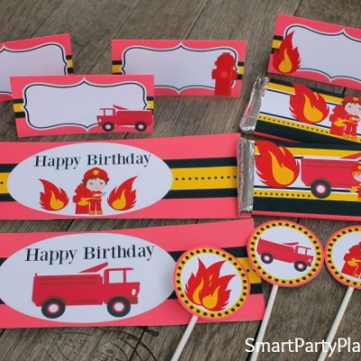 The Best Fireman Birthday Party Printable's