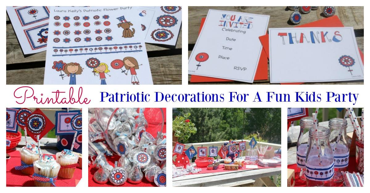 Printable Patriotic decorations