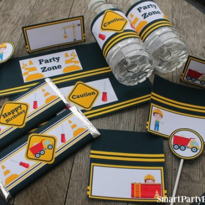 Construction Party Printable's to get the Kids Excited