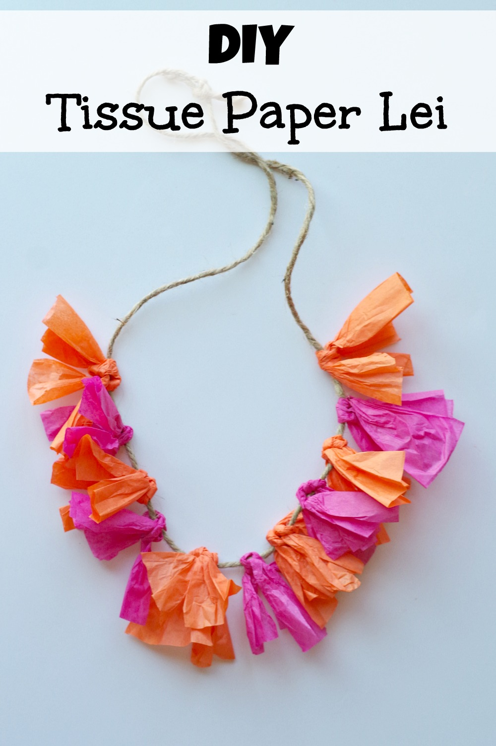 Lei Can Be Made With Construction Paper Yarn Solid: Quick & Easy Way To Make A Tissue Paper Lei