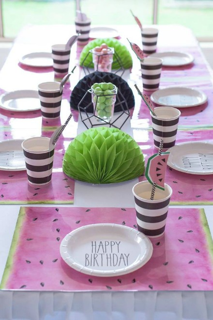 Front of watermelon table