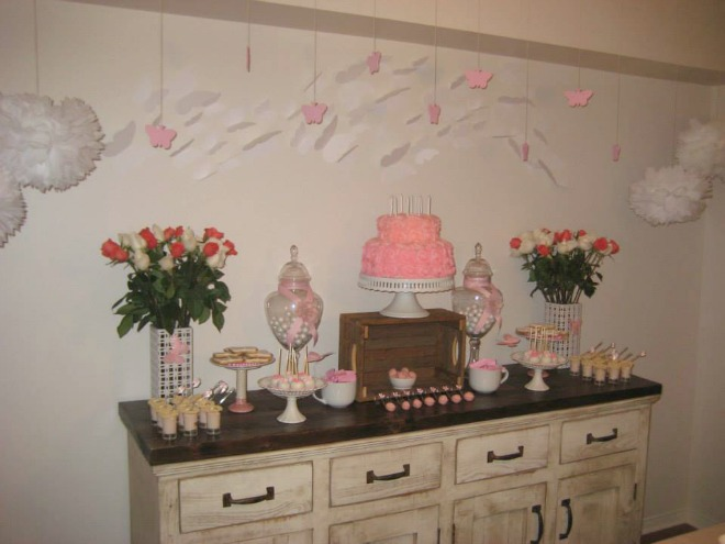 Butterfly party table display