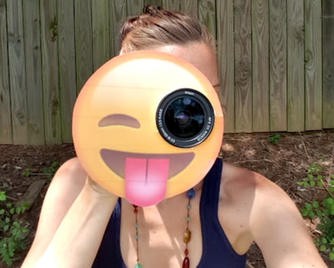 Emoji party package camera lens