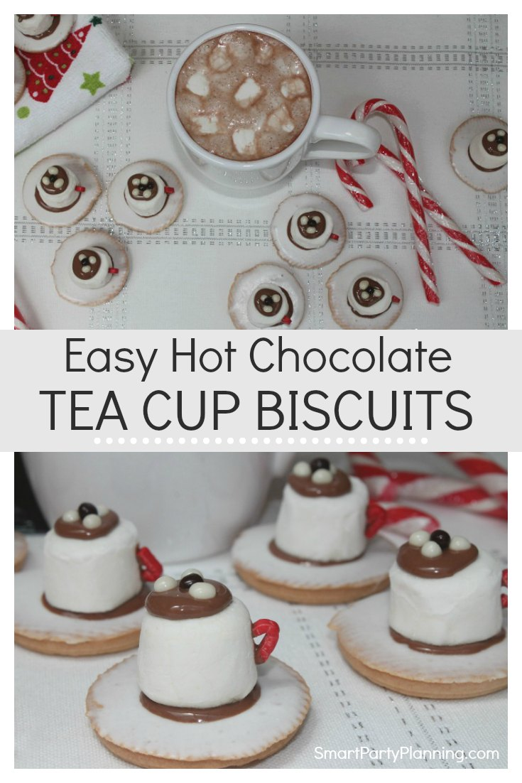 Easy Hot Chocolate Tea Cup Biscuits