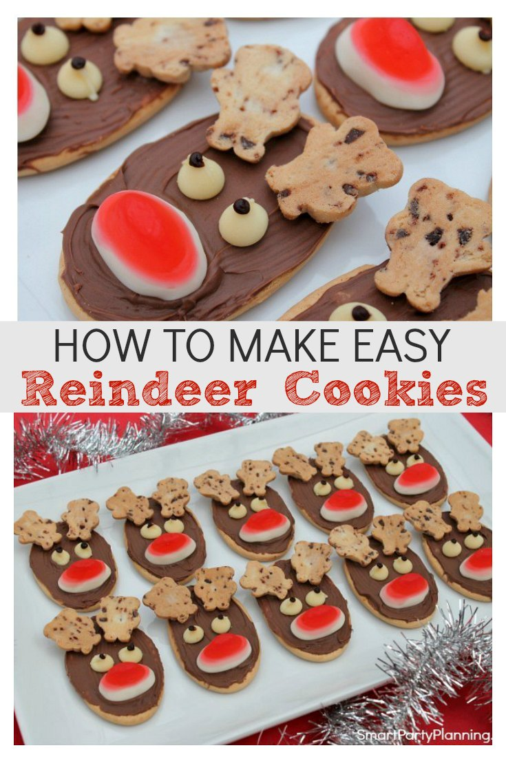 How to make easy reindeer cookies