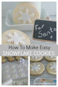 How to make easy snowflake cookies