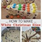 how to make white Christmas slice