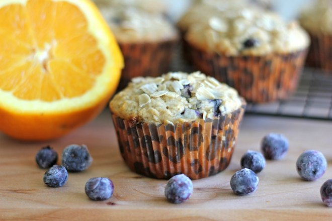 Blueberry orange oatmeal muffins