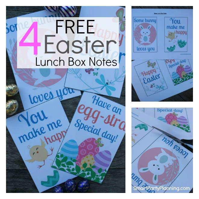 Easter lunch box notes