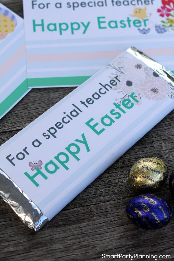 For a special teacher Happy Easter printable