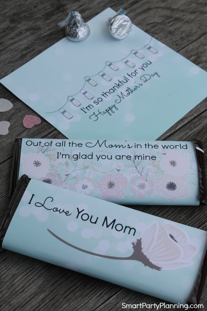 Candy bar wrappers for Mothers day