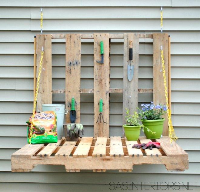 Gardening pallet table