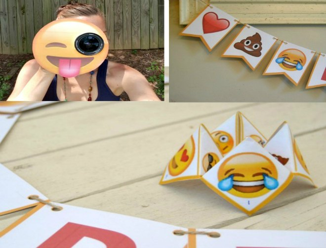 Emoji party with printables