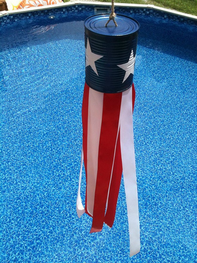 Patriotic Tin Can Windsock