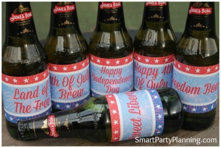 4th July Beer Printables