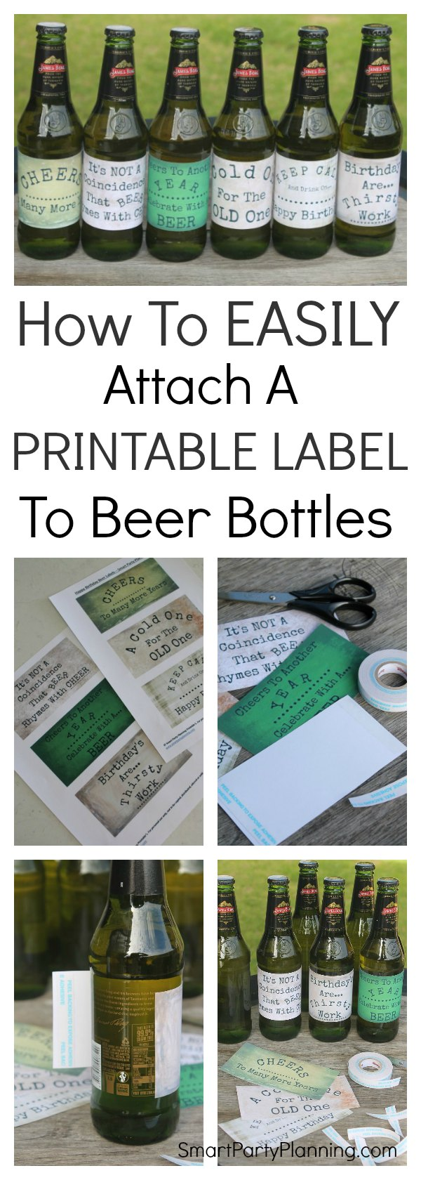 It's all very well having your beer printable's, but do you know how to attach a printable label to beer bottles? It's super easy to do, and once you know how it will soon become your favorite gift idea for the guys.  It's quick, it's cheap and the guys always love it.  It's a total win win gift.  So grab your beer bottle and your printable and let's get started.