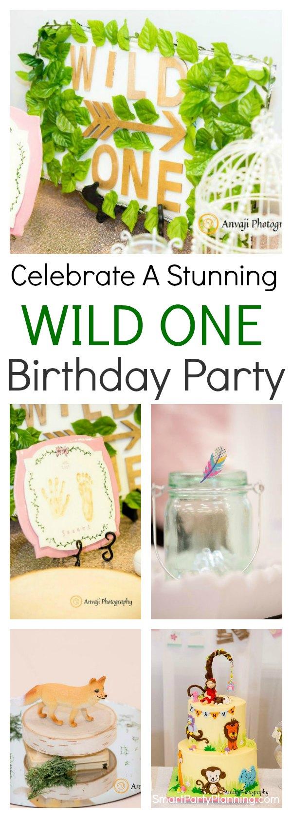 Celebrate a stunning wild one birthday party