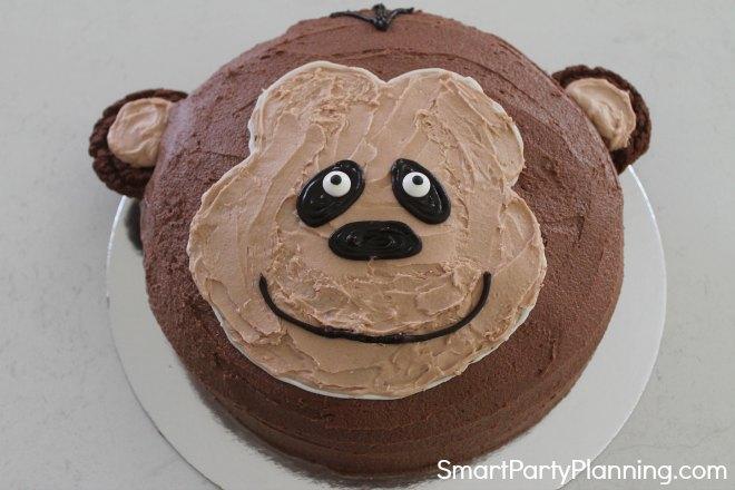 Whole Monkey face Cake