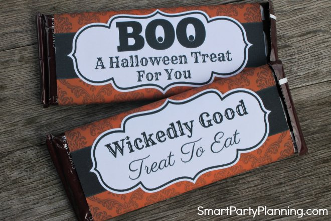 2 Halloween Hershey Bar Wrappers