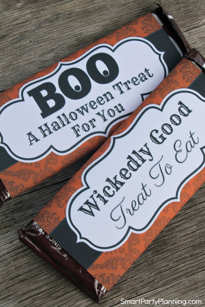 2 Halloween candy bar wrappers