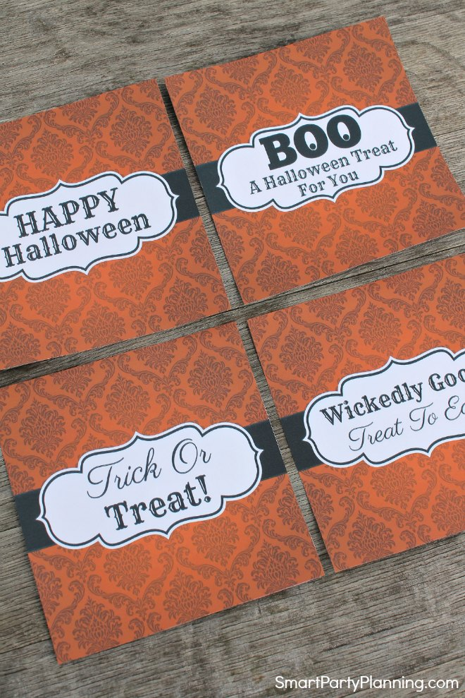 Print out to create a Halloween candy bar