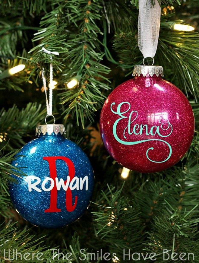 DIY Personalized Glitter Ornaments