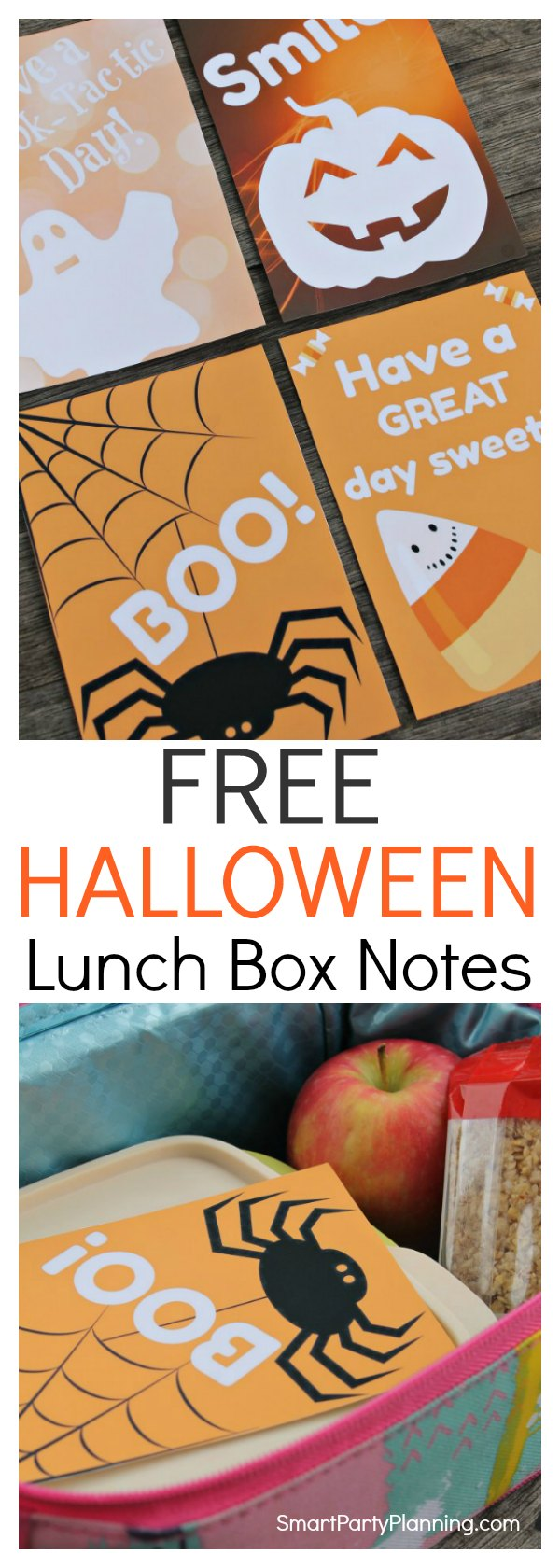 Print off some fun Halloween lunch box notes for the kids today.  They are the easiest way to surprise your little one, and they will definitely put a smile on their face.  Easy to download, then simply print, cut and have some spooky Halloween fun.