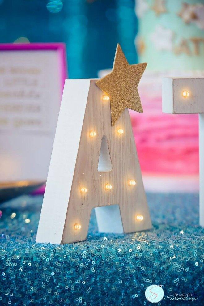 Name letter light