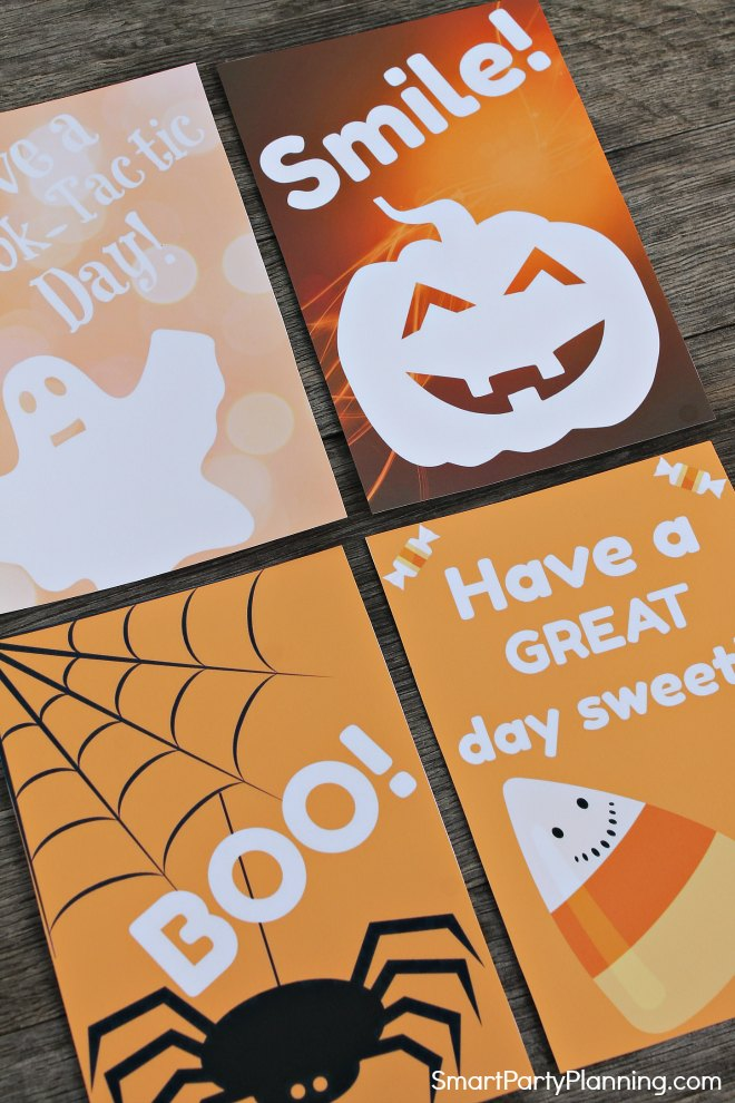 Set of 4 Halloween Lunch Box Notes