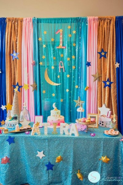 Twinkle twinkle little star birthday party for a one year old
