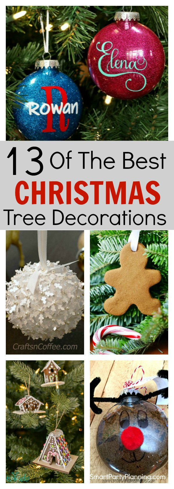 Why not try your hand at a bit of DIY and create your own Christmas tree decorations this year.  This selection is all easy and fun to make and are great for kids to get involved in.  They will make a fantastic holiday activity which you can enjoy year after year.  With different themes to try, there is something that everyone will love.