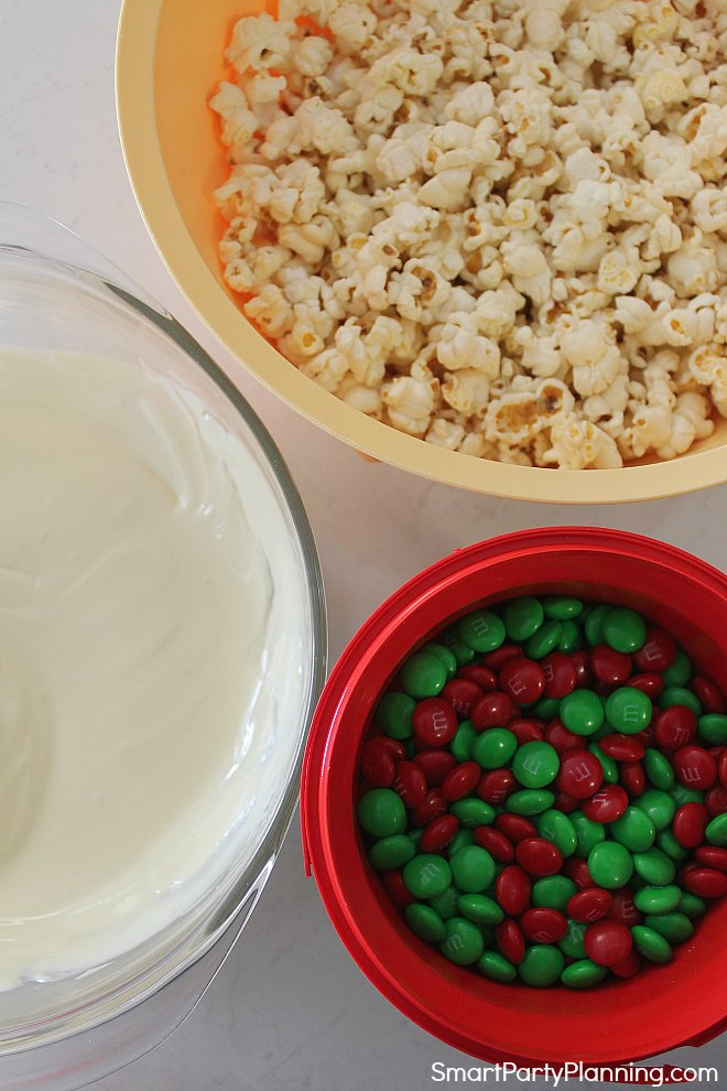 White chocolate popcorn ingredients