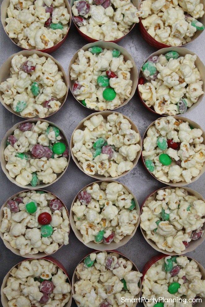 white chocolate popcorn snacks
