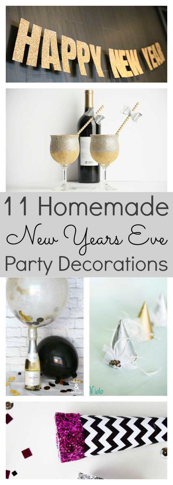homemade new years eve party decorations